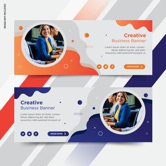 Banner de publicación de redes sociales de facebook para empresas