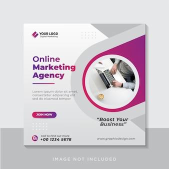 Banner de publicación de redes sociales de marketing empresarial en línea