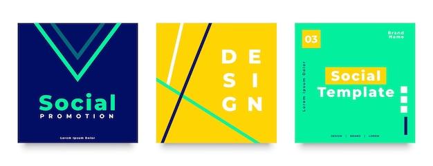 Banner de publicación de redes sociales moderno para su negocio