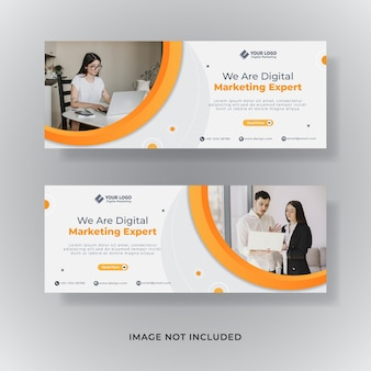 Banner de publicación de redes sociales de portada de facebook de marketing empresarial