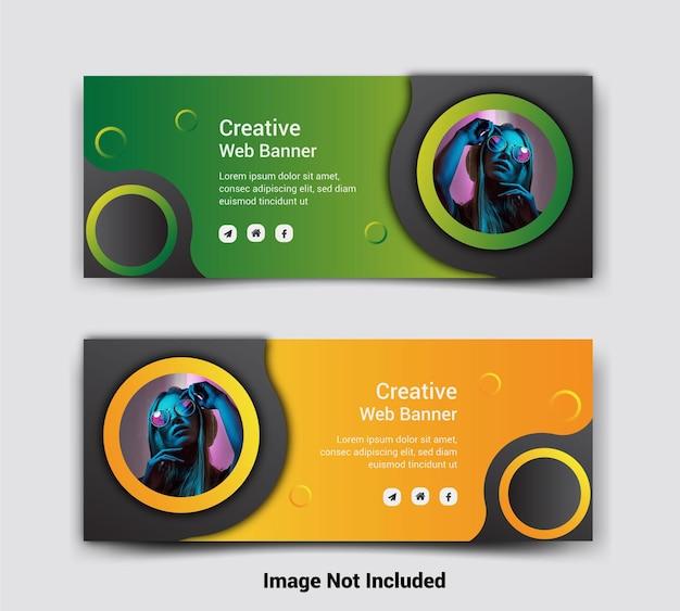 Banner de publicación de redes sociales de portada de negocios