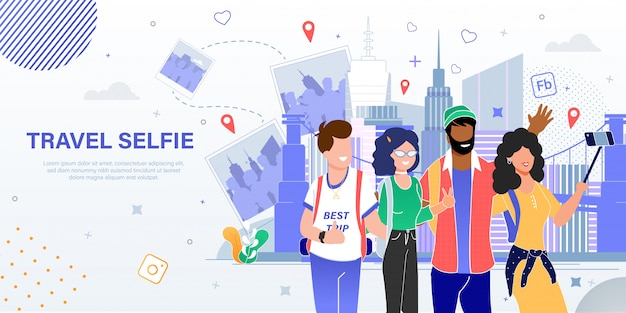 Banner de publicidad plana de agencia de viajes