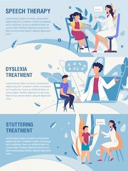 Banner publicidad terapia de trastornos del habla