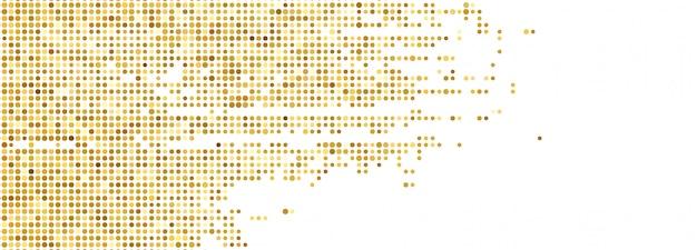 Banner punteado brillo abstracto