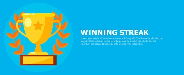 Banner de racha ganadora