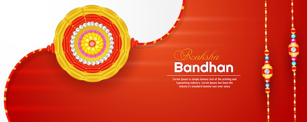 Banner de raksha bandhan