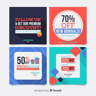 Banner de rebajas para redes sociales