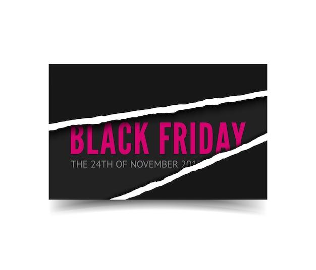 Banner de rebajas de viernes negro