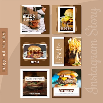 Banner de redes sociales de comida para restaurante