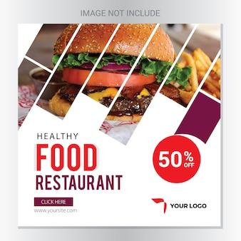 Banner de redes sociales de restaurante