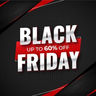 Banner de redes sociales de viernes negro, publicación, banner de venta o banner de descuento plantilla premium