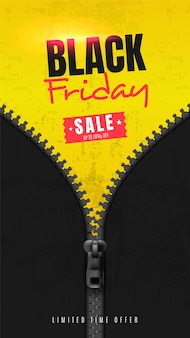 Banner de redes sociales para el viernes negro