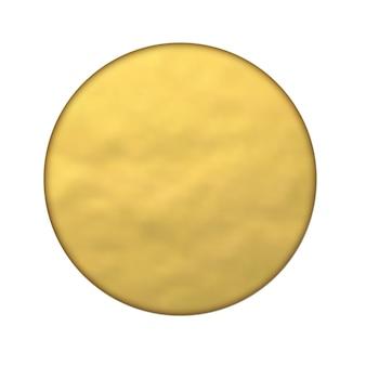 Banner redondo de papel dorado