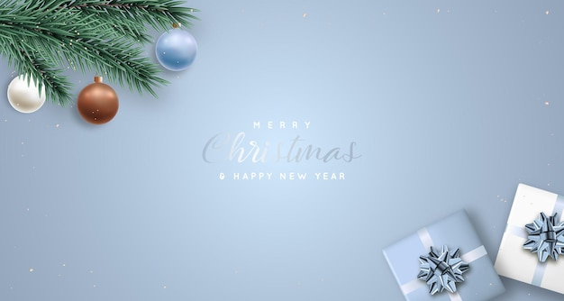 Banner de regalo de navidad