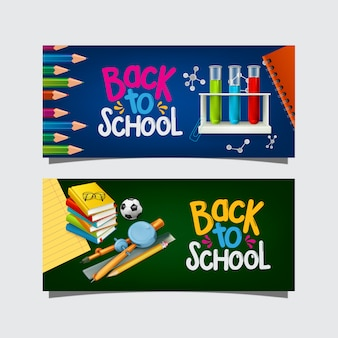 Banner de regreso a la escuela