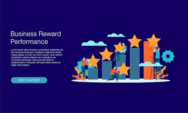 Banner de rendimiento de recompensa empresarial