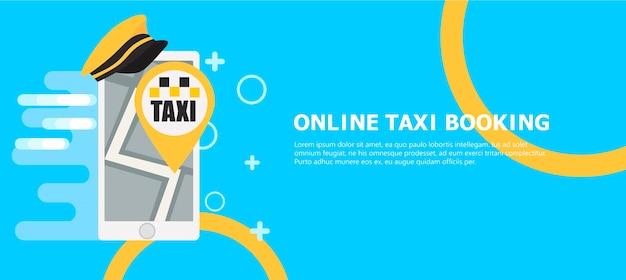 Banner de reserva de taxi en línea