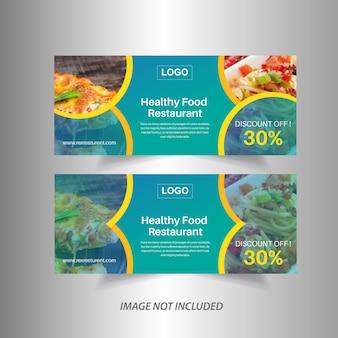 Banner de restaurante de comida web