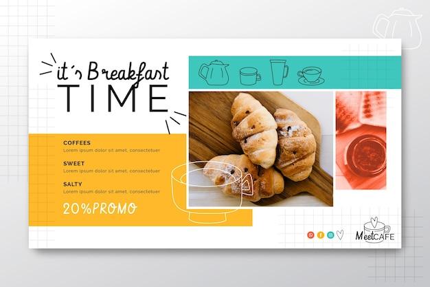 Banner de restaurante de desayuno