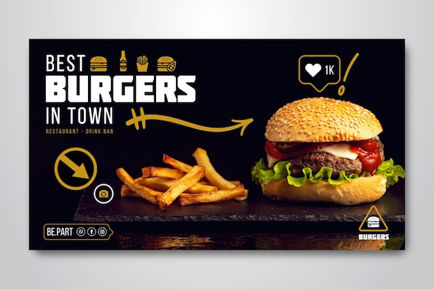 Banner para restaurante de hamburguesas