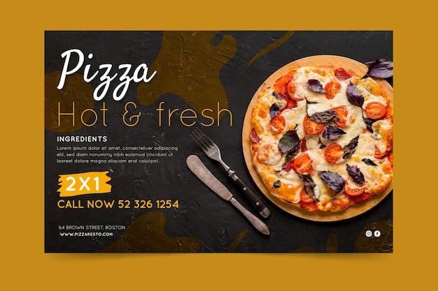 Banner de restaurante de pizza