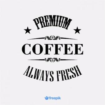 Banner retro de café premium