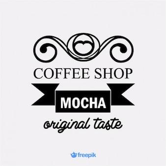 Banner retro de cafetería mocha