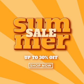 Banner retro de venta de verano