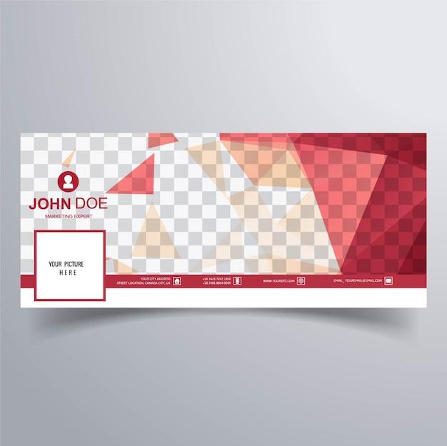 Banner rojo para la timeline de facebook
