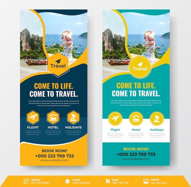 Banner roll up de viaje