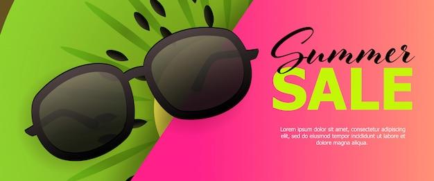 Banner rosa venta verano