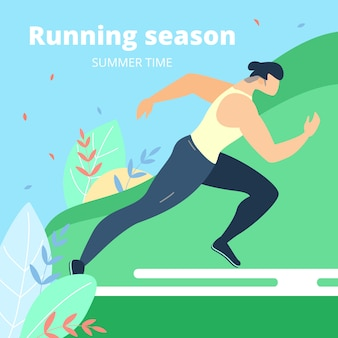 Banner running season summer time