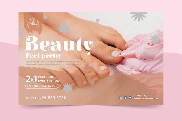 Banner de salón de belleza y salud