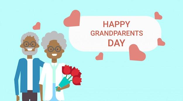 Banner de saludo de feliz día de los abuelos