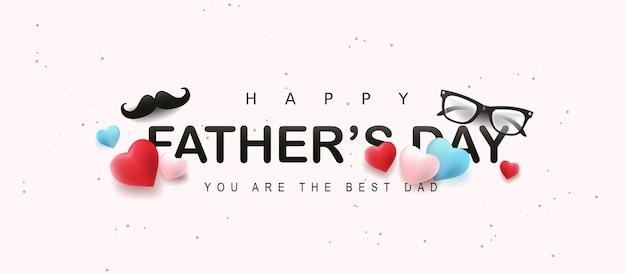 Banner de saludo de feliz día del padre