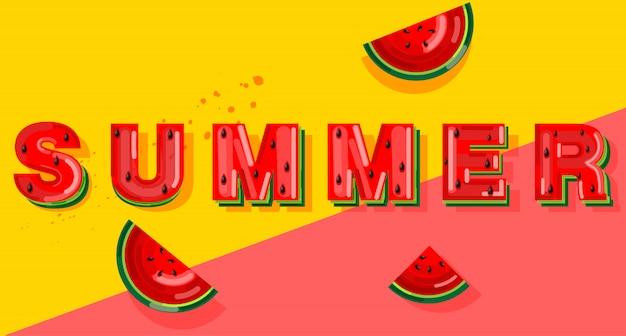 Banner de sandía de verano