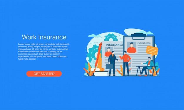 Banner de seguro de trabajo