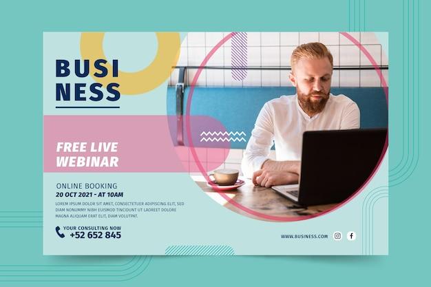 Banner de seminario web de negocios generales