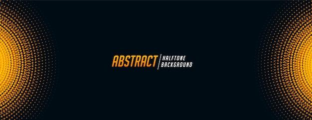 Banner de semitono abstracto en tono negro y amarillo
