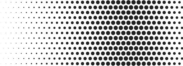 Banner de semitono blanco y negro abstracto