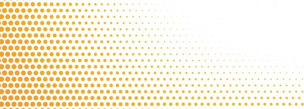 Banner de semitono naranja abstracto