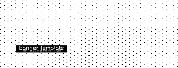 Banner de semitono simple abstracto