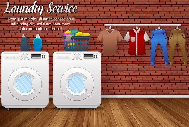 Banner de servicio de lavandería