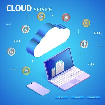 Banner de servidor web y portátil