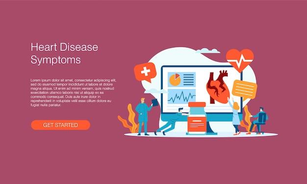 Banner de síntomas de enfermedad cardíaca