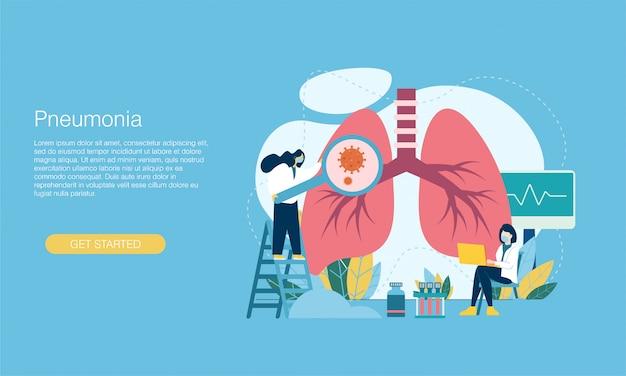 Banner de síntomas de neumonía