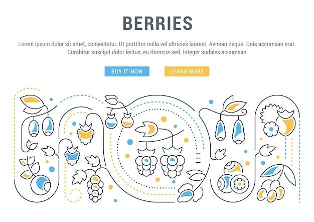 Banner del sitio web y página de destino de berries.