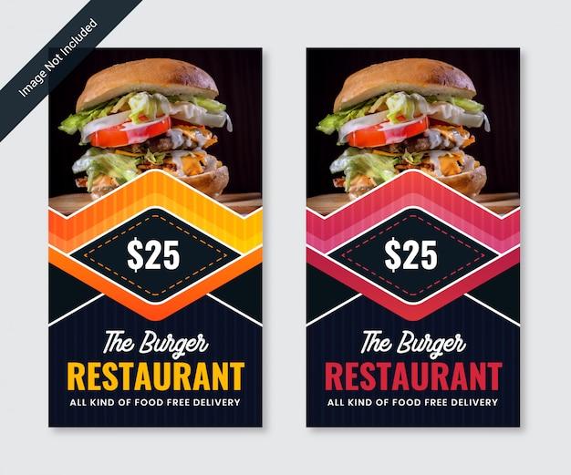 Banner social de hamburguesa horizontal
