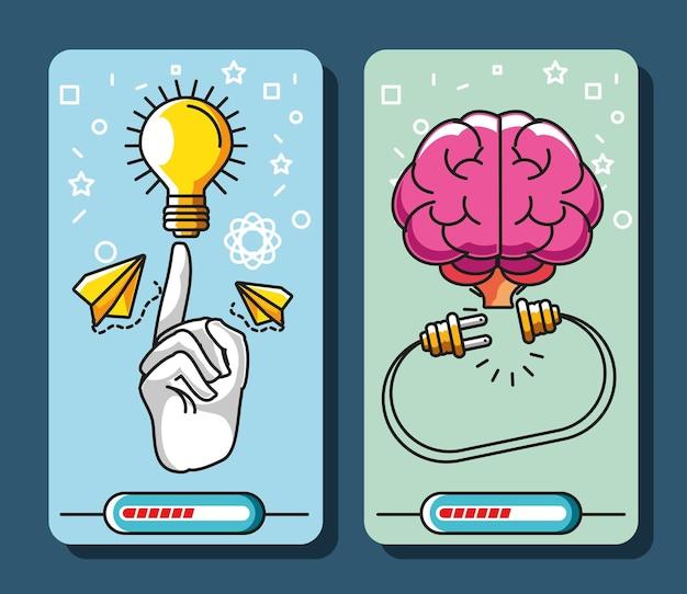 Banner de solución de búsqueda de gran idea