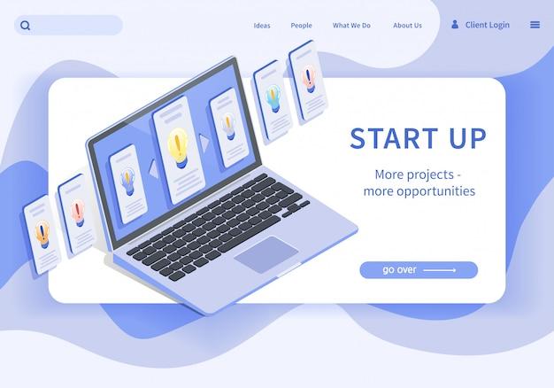 Banner start up más proyectos más oportunidades.